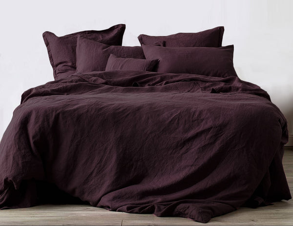 Limited Edition Mix&Match linen pillowcase Burgundy - Naughty Linen