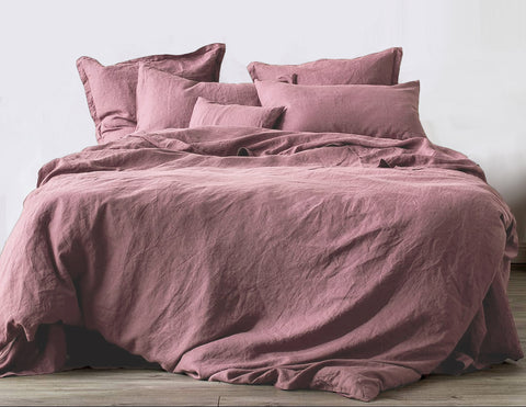 Limited Edition Mix&Match linen duvet cover Desert Rose