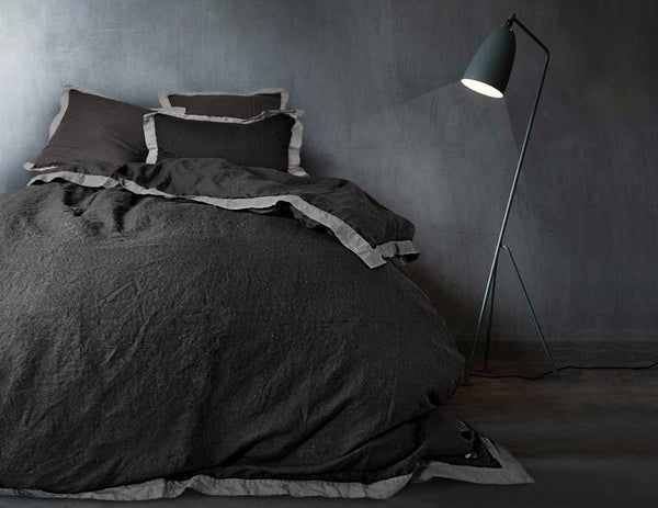 Naughty pillowcase Black/Grey - Naughty Linen