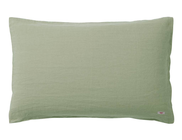 Blended double color linen duvet cover Pine/Olive