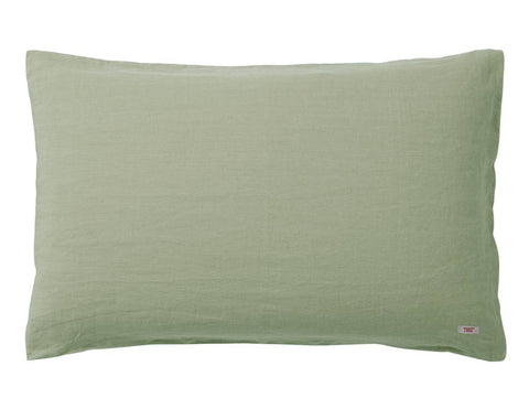 Blended double color linen duvet cover Pine/Khaki