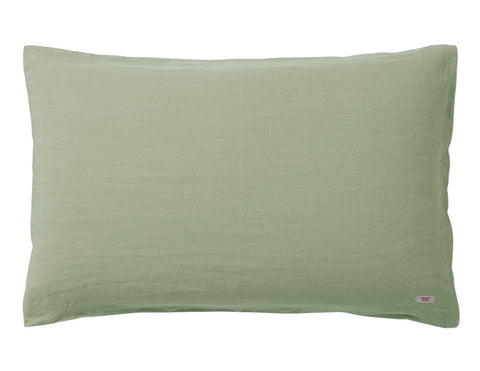 Blended double color linen pillowcase Pine/Khaki