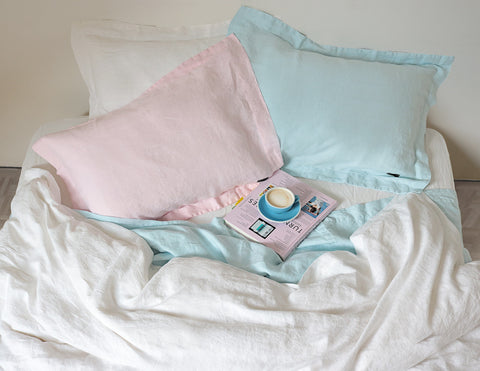Mix&Match linen pillowcase Rose - Naughty Linen