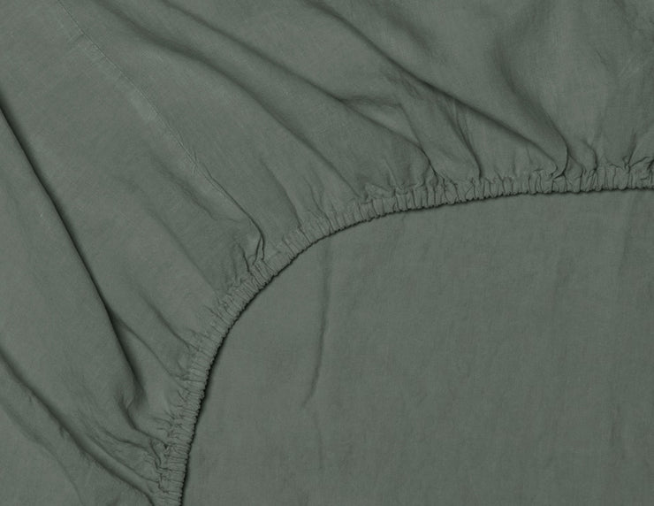 Fitted sheet Khaki - Naughty Linen
