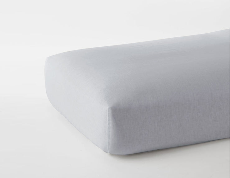 Fitted linen sheet Fog - Naughty Linen