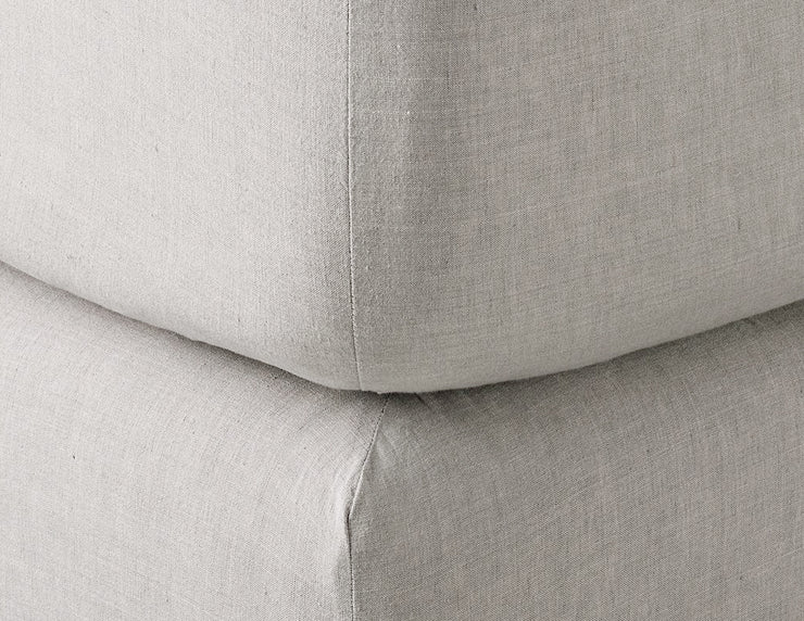 Fitted linen sheet Melange Beige - Naughty Linen
