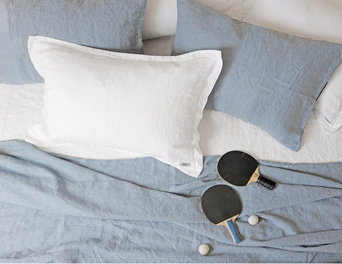 Mix&Match linen pillowcase Aqua - Naughty Linen