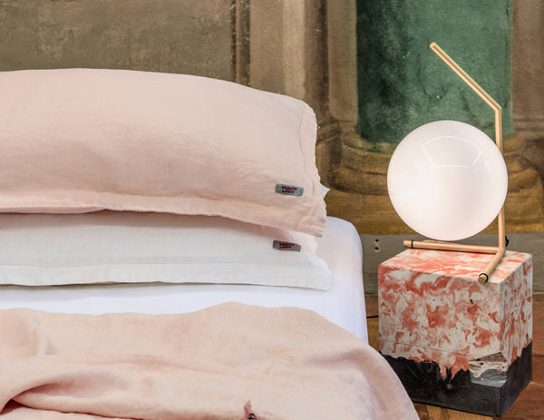 Mix&Match linen duvet cover Peach - Naughty Linen