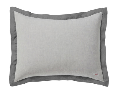 Naughty pillowcase Melange grey/Grey border