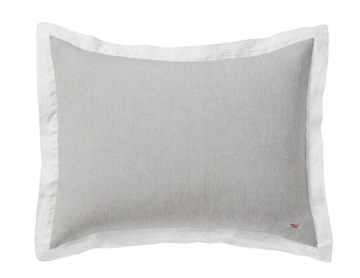 Naughty pillowcase Melange Beige/White - Naughty Linen