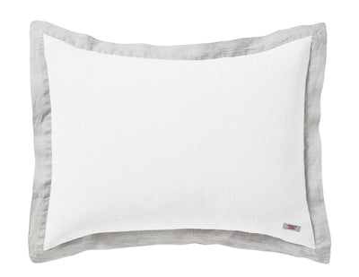 Naughty pillowcase White/Melange border - Naughty Linen