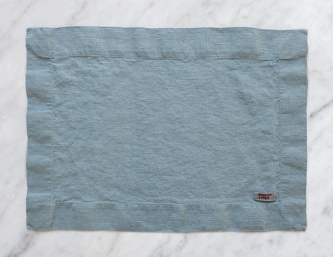 Linen placemat in Aqua - Naughty Linen