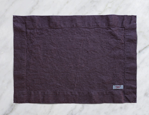Linen placemat in Plum