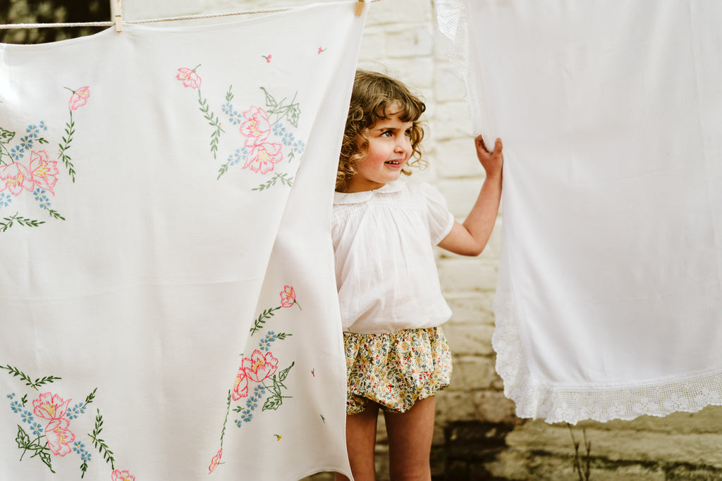 Little Cotton Clothes Yellow Floral Bloomers