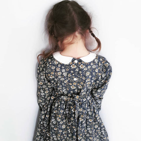Little Cotton Clothes Dorothy Dress Blue Floral