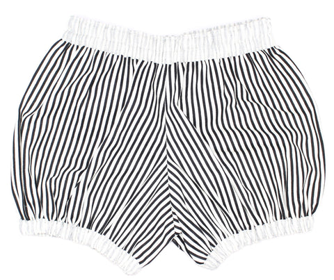 Coco & Wolf Black and White Stripe Shorts Bloomers