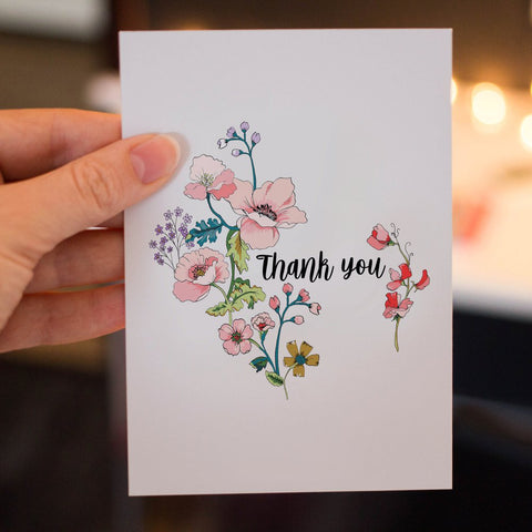 'Thank you' notecards by Pea & Me