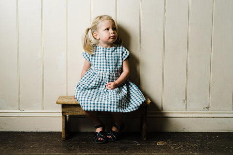 Little Cotton Clothes Gingham Blue Seersucker Dress