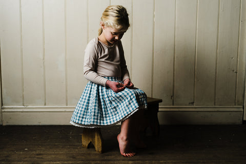 Little Cotton Clothes Salcombe Skirt Blue Gingham