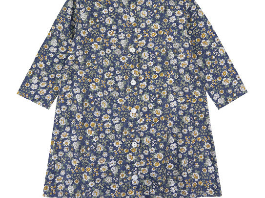 Little Cotton Clothes Betty Dress Blue Floral