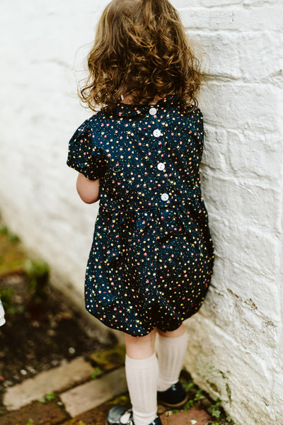 Little Cotton Clothes Esme Romper Navy Floral