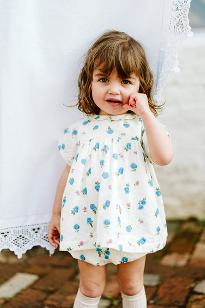 Little Cotton Clothes White Floral Bloomers
