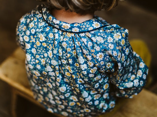 Little Cotton Clothes Annie Blouse Blue Floral