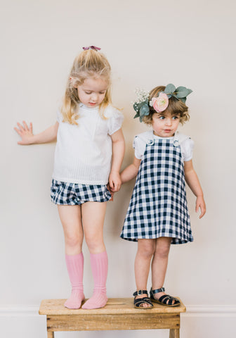 Little Cotton Clothes Poppy Bloomers Navy Gingham