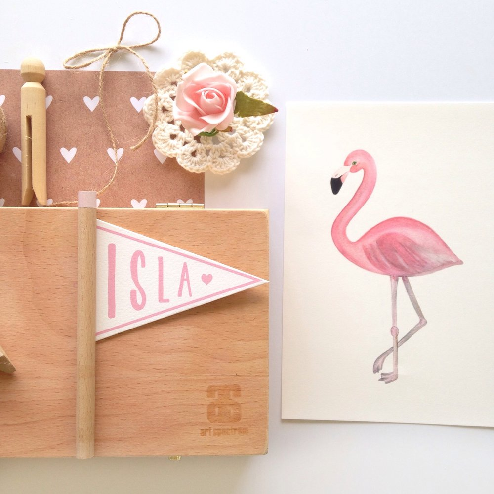 Jo Collier Designs 'Florence' Flamingo A5 & A5 Print