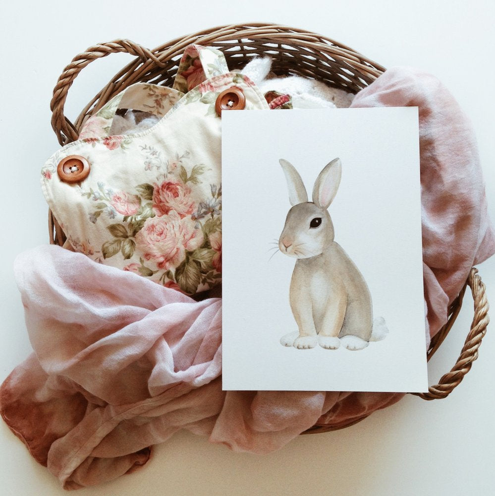 Jo Collier Designs 'Basil Bunny' A5 & A4 Print