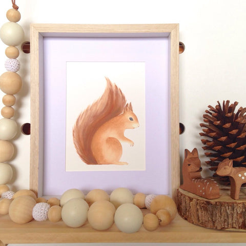Jo Collier 'Sebastian Squirrel' A5 Print