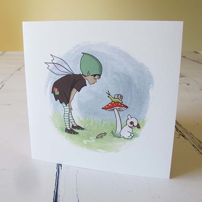 Made in Pixieland Slugs & Snails Card