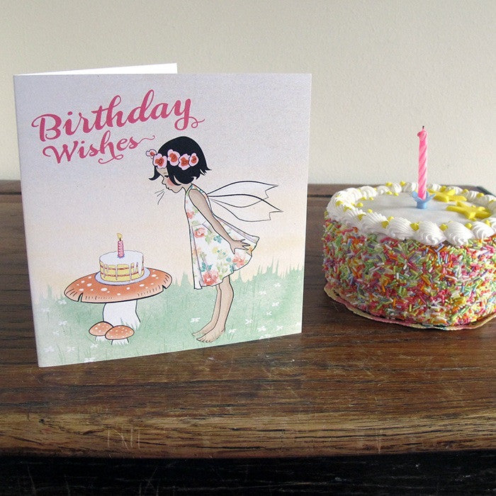 Made in Pixieland Birthday Cake Card