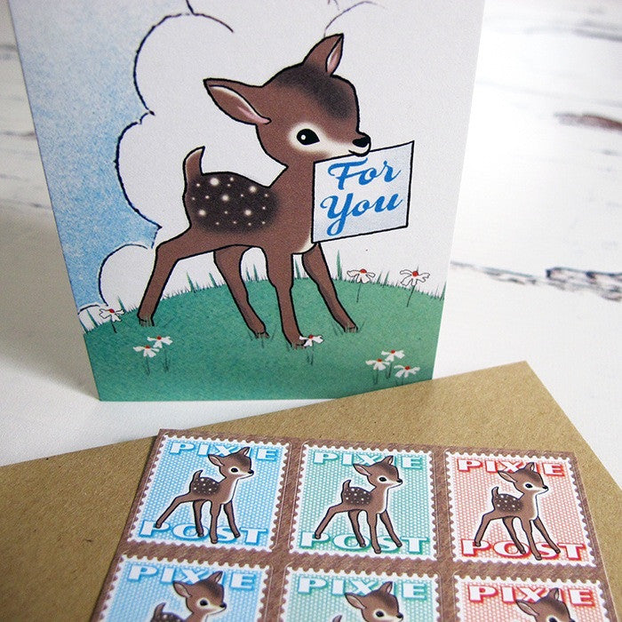 Made in Pixieland set of 6 Deer Cards
