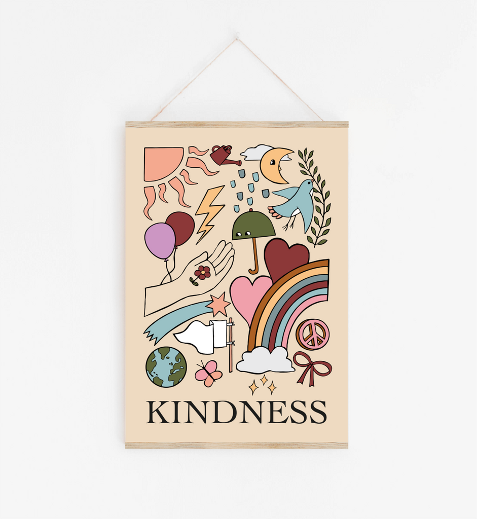 Kindness Print in Blush