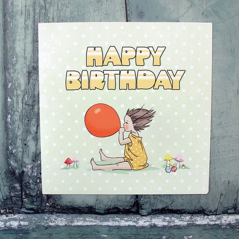 Balloon Pixie Birthday Card