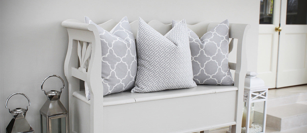 Fitzgerald and Hanover Grey Linen Pillows