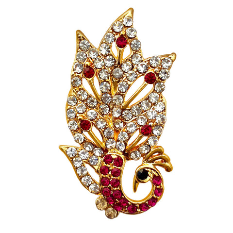 B-Fashionable Sparkling Peacock Brooch - 1