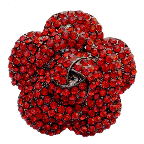 B-Fashionable Cocktail Flower Finger Ring (Red) - 1