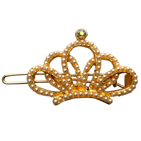 B-Fashionable Crown Wireclasp (Pearl) - 1
