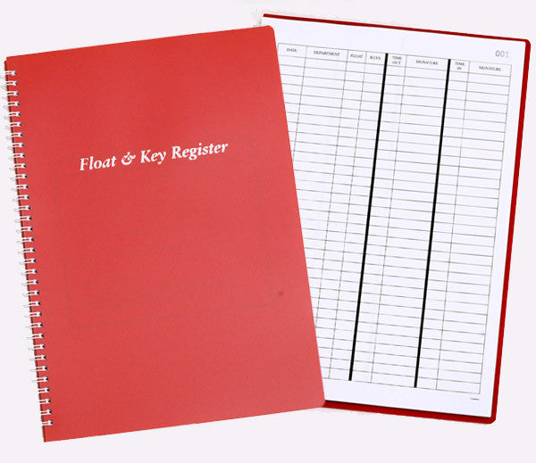 float key register book charisma pads