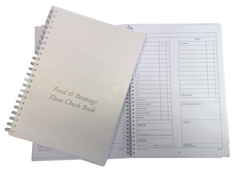 Food & Beverage Float Check Book