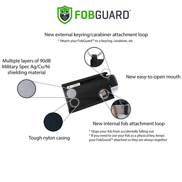FobGuard® security pouch: Ideal Faraday Cage to Protect Car Keyless Entry Fobs