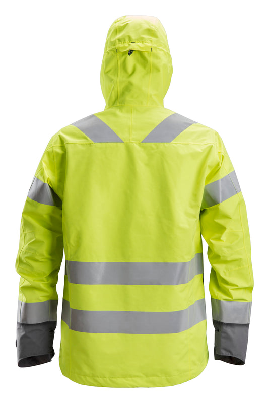 Snickers 1330 AllroundWork, High-Vis Waterproof Shell Jack Klasse 3