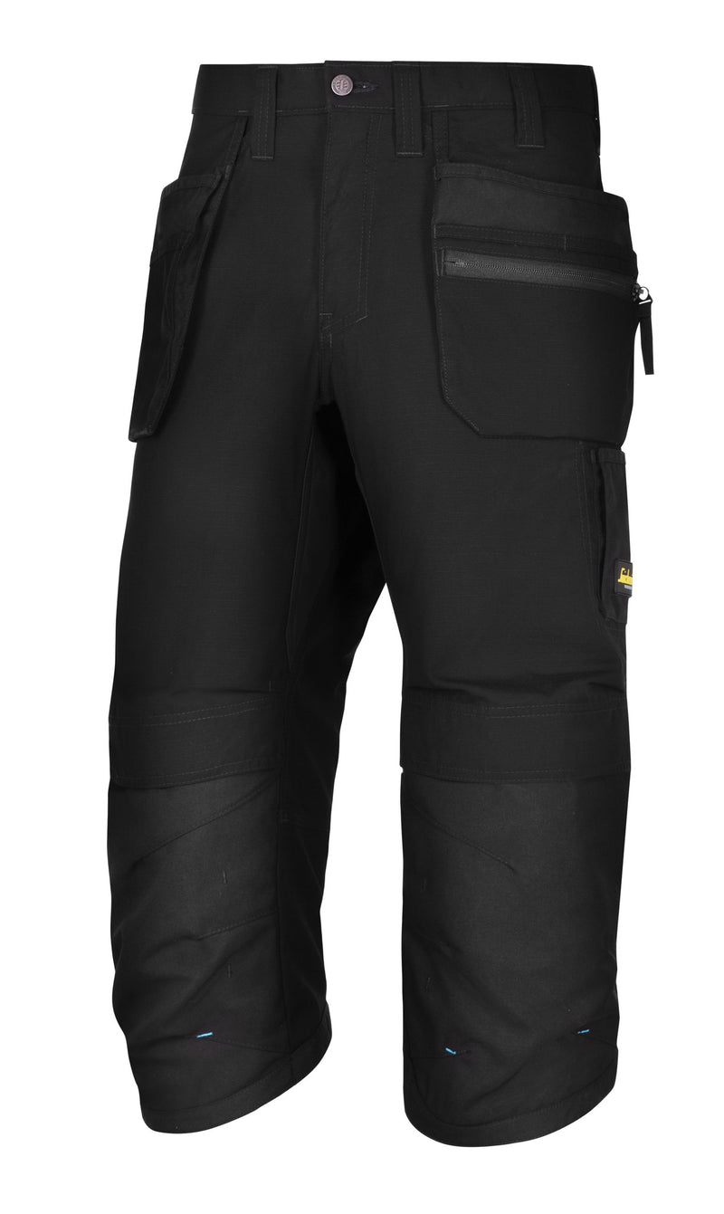 Snickers 6103 LW 37.5 Pirate werkbroek+ HP - Black - Black - Snickers Werkkledij