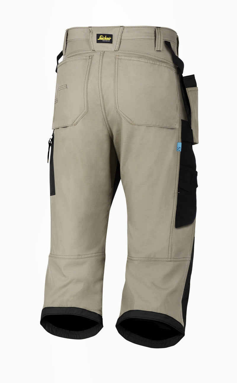 Snickers 6103 LW 37.5 Pirate werkbroek+ HP - Khaki - Khaki - Snickers Werkkledij