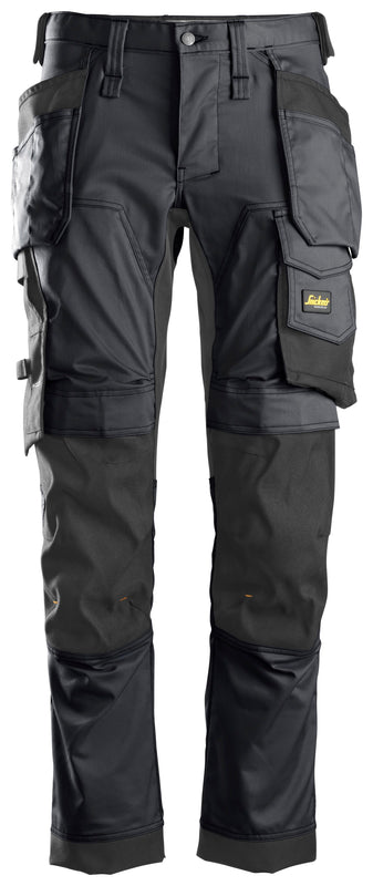 Snickers 6241 AllroundWork, Stretch Werkbroek met Holsterzakken - STEEL GREY