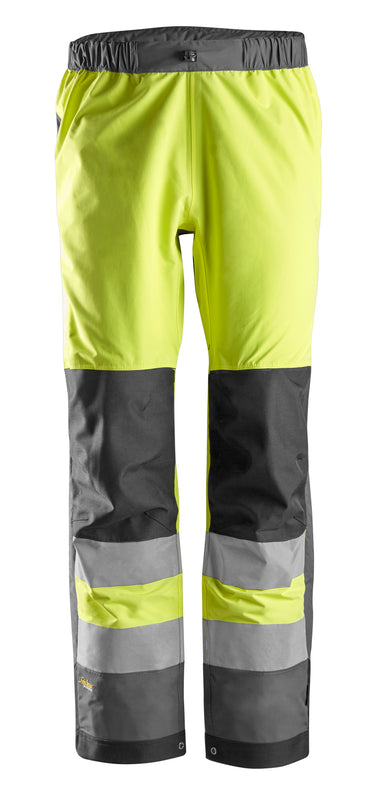 Snickers 6530 AllroundWork, High-Vis WP Shell Broek Klasse 2