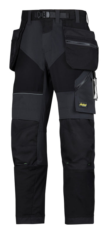 Snickers 6902 FlexiWork werkbroek met holsterzakken Black - NEW -