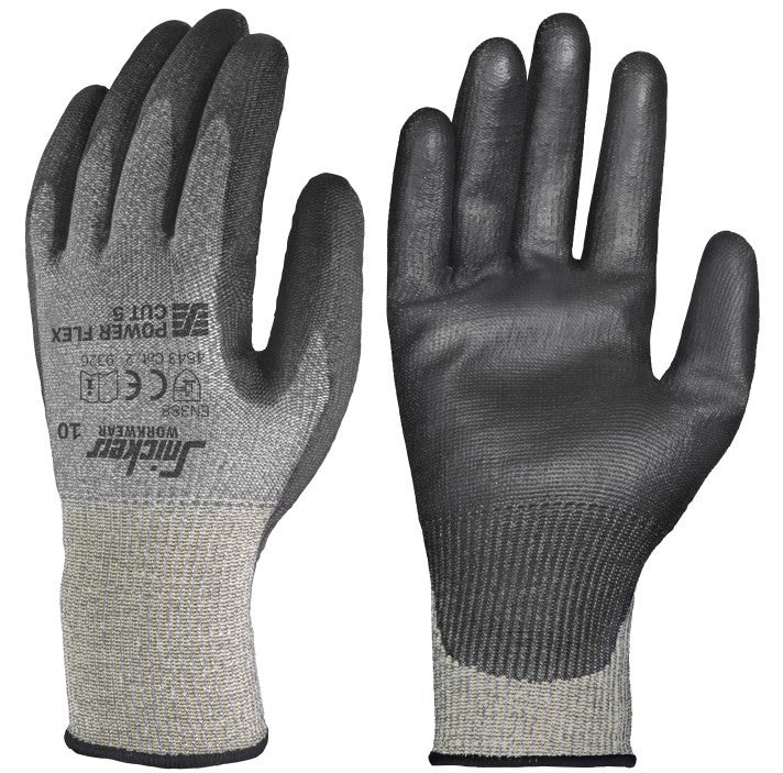 Snickers 9326 Power Flex Cut 5 Gloves - Snijbescherming (10 paar) - Snickers Werkkledij